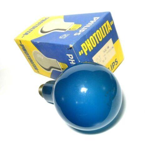 Philips Holland PF 208 E/60 115V 500W Blue Light Photolita Bulb Lamp E27 NOS 50s