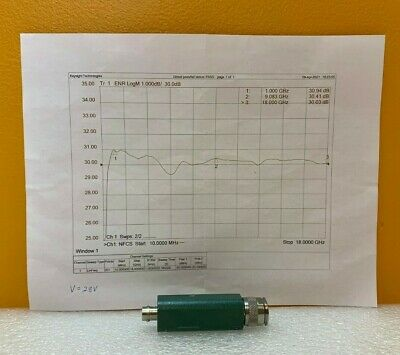 Microwave Semiconductor Corp Msc 67113 1.0 To 18 Ghz Noise Source. Tested