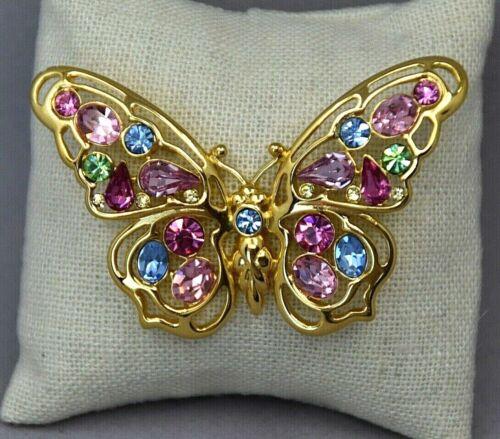 Nolan Miller Gold Tone Butterfly Brooch