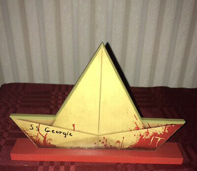 Stephen Kings IT S.S. GEORGIE WOODEN BOAT TABLE OR WALL DECORATION NEW 2020