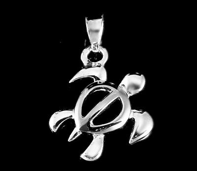 STERLING SILVER 925 HAWAIIAN HONU SEA TURTLE PENDANT CHARM -