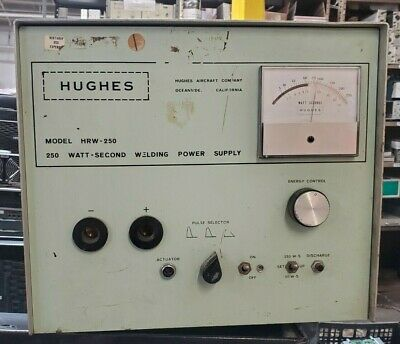 Hughes Welding Power Supply Hrw-250b Tested To Power On Only N1
