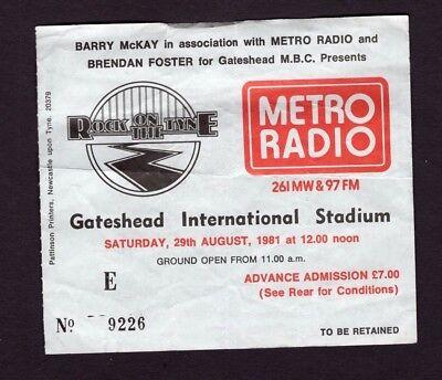 Original Rare 1981 U2 Elvis Costello Concert Ticket Stub October Tour Gateshead, used for sale  Saint Paul