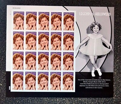 2016USA 5060 FOREVER SHIRLEY TEMPLE - LEGENDS OF HOLLYWOOD - SHEET OF 20  MINT