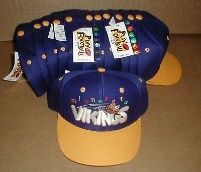 Minnesota Vikings Party Supplies (Minnesota Vikings NFL Child Boys Snapback New Hat Lot Football Party)