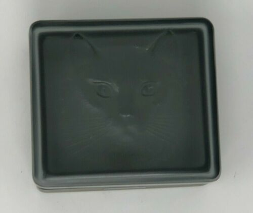 Rare Lalique Smoked Gray Art Glass Trinket box