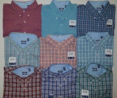 Men's IZOD Big & Tall Sport Flex Non-Iron Long Sleeve Button Front Shirt