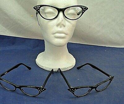 NON-PERSCRIPTION, EYEGLASSES, CAT-EYE FRAMES, THREE (Non Perscription Glasses)