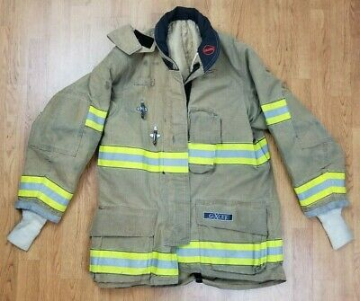 Globe G-xcel Firefighter Turnout Bunker Coat W Drd 40 X 36 Mfg. 2014