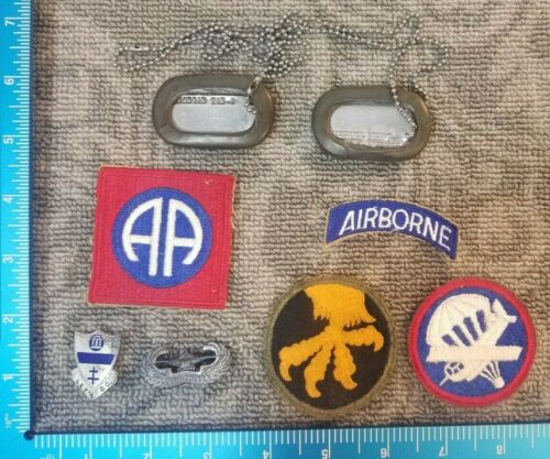 VINTAGE US 325TH 194TH GLIDER INFANTRY REGIMENT 17TH AIRBORNE GROUPING  91C
