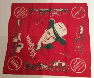 Used Coca Cola Advertising Bandana Kit Carson 1950 Clean 22 X 20 Inches
