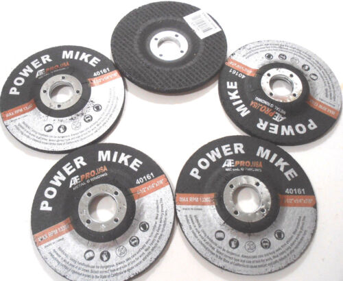 "GRINDING WHEEL DISC 5 PC. 4-1/2"" INCH  X 7/8"" ARBOR X 1/4"" THICK FIVE"