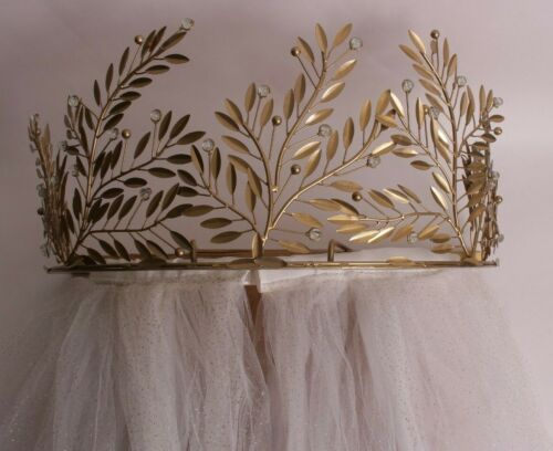 New Pottery Barn Kids Monique Lhuillier Gold Vine Crown Cornice & sheers
