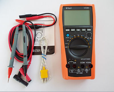 New Vici Vc99 3 67 Auto Range Digital Multimeter With Bag Fluke Lead