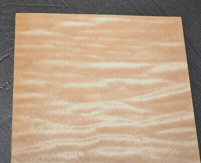 Curly Maple Veneer Sheets 5.5 X 26 Inches 142nd Raw Wood Veneer  7631-26