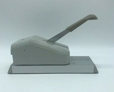 Newbold Addressograph 871-701-001 Vtg Manual Hand Lever Credit Card Imprinter