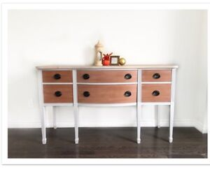 Antique Sideboard Credenza Console Buffet