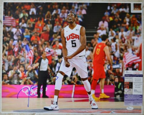 Kevin Durant Signed 16x20 Photo w JSA COA #U56468 Team USA Golden State Warriors