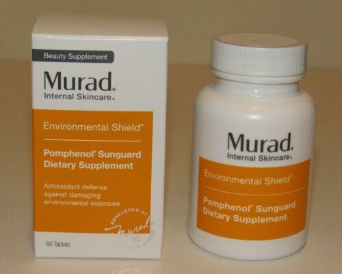 Murad Environmental Shield Pomphenol Sunguard Dietary Supplement 60 Ct. NIB 4/23
