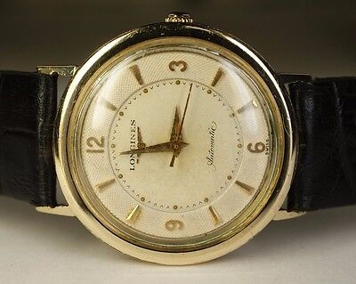 1950's Longines 10K Yellow Gold Filled GF 17J 19AS Vintage Automatic Swiss Watch