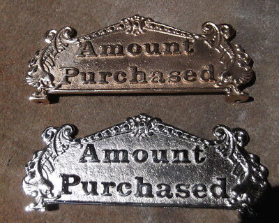CANDY STORE CASH REGISTER AMOUNT PURCHASED TOP SIGN RAISED LETTERS 313