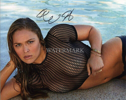 RONDA ROUSEY SIGNED SEXY UFC WWF WWE WRESTLING 8x10 REPRINT PHOTO RP