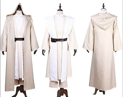 Jedi Knight Adult Luke Skywalker Force Awakens Costume Cloak  Cosplay Wars Star Jedi Knight Cloak