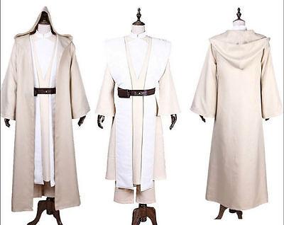 Adult Star Wars Luke Skywalker Jedi Cosplay Costume Custom Made full set - Custom Made Jedi Kostüm