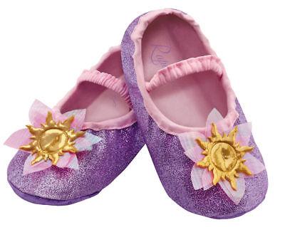 Morris Costumes Toddler Rapunzel Ballet-Style Slippers Purple One Size. DG83872