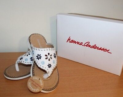 New Hanna Andersson Dagmar sandals for little girls size 8 - White Shoes For Little Girls