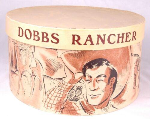 DOBBS RANCHER-Vintage Felt BSA Boy Scout Campaign Hat with Box-Size 6 7/8-Olive