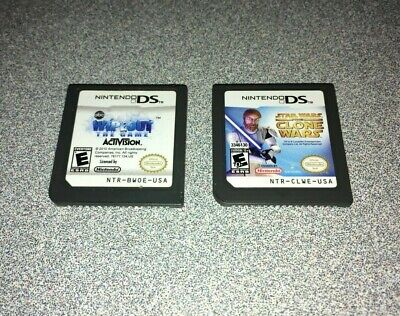 Nintendo DS Games - Cartridges Only (Star Wars: Clone Wars & Wipeout: The Game)