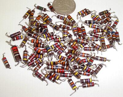 100 Vintage 12w Bakelite Carbon Composite Resistors Mixed Values 2