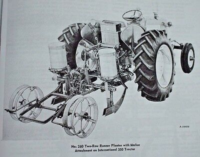 Ih International Harvester 260 3pt 2pt 2 Row Corn Bean Planter Manual Farmall