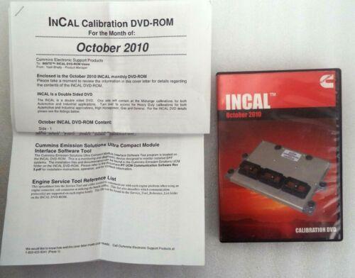Cummins Incal Engine Control Module 2010 Calibration DVD, p/n 3886393