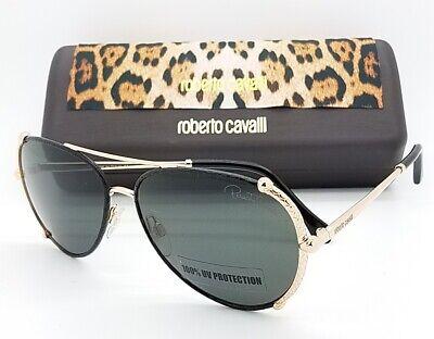 NEW Roberto Cavalli sunglasses RC1029 28A Black Gold Grey Aviator AUTHENTIC (Roberto Cavalli Sunglasses For Men)
