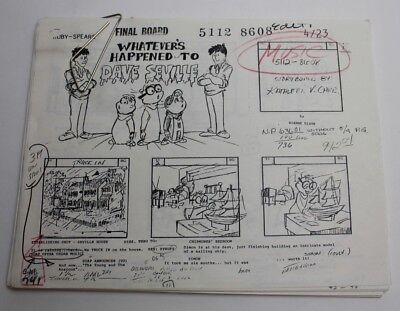 ALVIN & THE CHIPMUNKS / 1986 Animated TV Series Storyboards used by the Crew