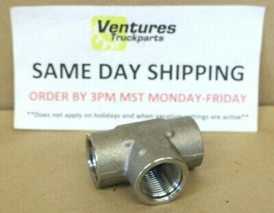 34 Tee 3 Way Female Stainless Steel 304 Threaded Pipe Fitting New