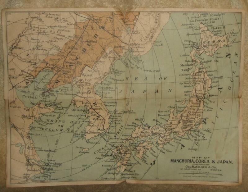 Circa 1904 Geo. H. Walker & Co. Map of Manchuria, Corea & Japan