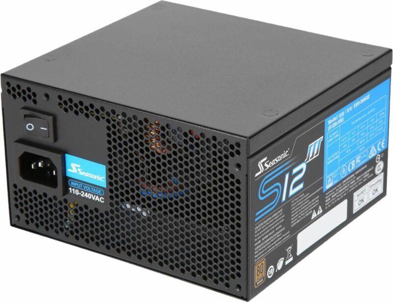 Seasonic - SSR-500GB3, 500W 80+ Bronze PSU, ATX12V/EPS12V, Direct Output, Sma...
