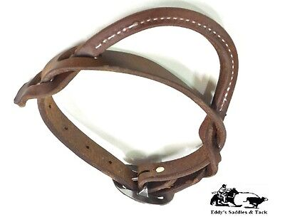 Cowboys Night Latch Heavy Oil Harness Roll Stitched Handle Amish Made Free Ship