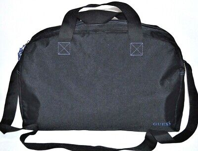 GUESS Bag Gym Duffle Case Travel Tote Carry On Shoulder Bag Handle Black Blue