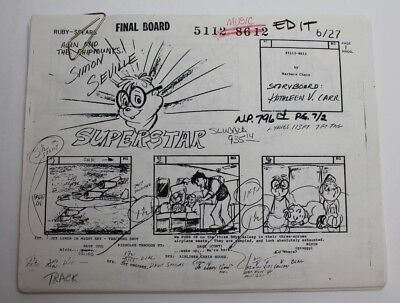 ALVIN & THE CHIPMUNKS / 1986 TV Storyboards Script