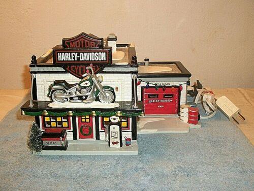 Harley-Davidson Motorcycle Shop ~ Department 56 Original Snow Village 56-54886