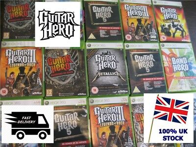XBOX 360 GUITAR HERO GAME SERIES - Legends of Rock World Tour Metallica etc