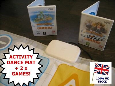 Nintendo Wii Games x2 - FAMILY TRAINER + EXTREME CHALLENGE + Activity Dance MAT