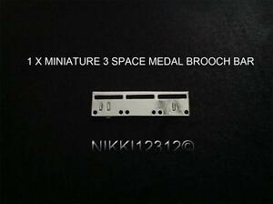 MINIATURE-3-SPACE-MEDAL-MOUNTING-BROOCH-BAR-FOR-3-MINIATURE-MEDALS