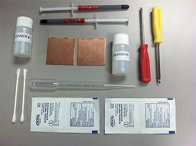 PS3 Slim Playstation 3 YLOD Shims Fix Repair Kit Kester 951 Flux Thermal Paste