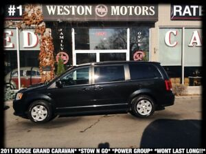 2011 Dodge Caravan SE*STOW N GO* POWER GROUP* WONT LAST LONG!!*