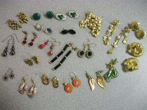 21 Pr. Ladies Vintage to Modern Pierced Earring Lot - Nice Selection